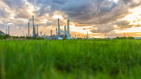 Oil refinery at sunrise Thailand Stock Image