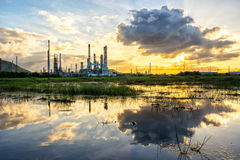 Oil refinery at sunrise Thailand Royalty Free Stock Photography