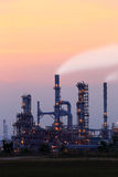 Oil refinery at sunset Stock Image