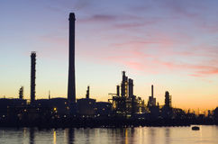 Oil Refinery at sunset Royalty Free Stock Image