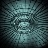 Oil Refinery Tank Ceiling. Inside view of an old oil refinery tank ceiling royalty free stock image