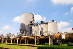 Oil Refinery Tanks Stock Images