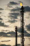 Oil refinery tower Royalty Free Stock Photography