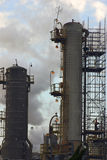 Oil refinery towers Royalty Free Stock Image