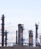 Oil refinery towers. Fawley Hampshire UK Stock Photography