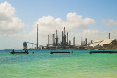 Oil refinery in tropics Stock Images