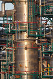 Oil refinery tubes and pipes Stock Photo