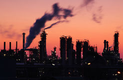 Oil refinery at twilight Royalty Free Stock Image