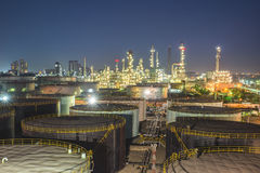 Oil refinery at twilight Stock Photography