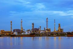Oil refinery at twilight, business logistic concept Stock Photo