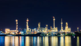 Oil refinery at twilight, business logistic concept Stock Images