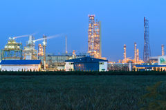 Oil refinery on twilight Royalty Free Stock Images
