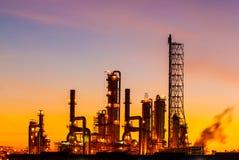 Oil refinery at twilight Stock Photo