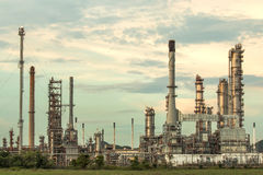 Oil refinery at twilight. Stock Photography