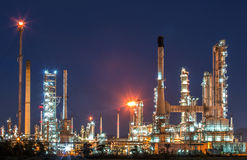 Oil refinery at twilight. Oil refinery at twilight, locations in Thailand stock photos