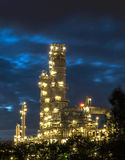Oil refinery at twilight. Royalty Free Stock Photos