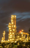 Oil refinery at twilight. Royalty Free Stock Photo