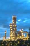 Oil refinery at twilight. Stock Image