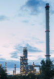 Oil refinery at twilight. Stock Photos