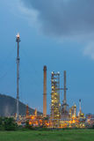 Oil refinery at twilight sky Stock Photo