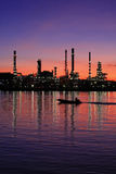 Oil refinery at twilight Thailand Royalty Free Stock Image