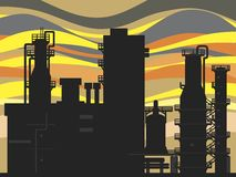 Oil refinery. Vector illustration of an oil refinery royalty free illustration