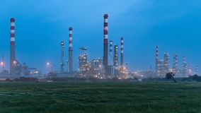 Oil refinery view Stock Image