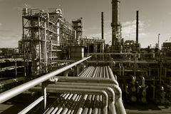 Oil-refinery view from above Royalty Free Stock Image