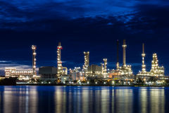 Oil refinery1 Royalty Free Stock Image
