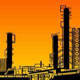Oil refining. Royalty Free Stock Images