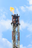 Oil refining. On blue sky Royalty Free Stock Photos