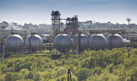 Oil refining chemical factory Stock Photography