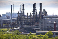 Oil refining chemical factory Royalty Free Stock Photos