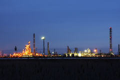 Oil refining factory Royalty Free Stock Photography