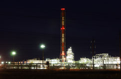 Oil refining factory Stock Photography