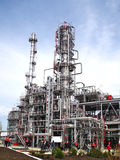 Oil refining factory Royalty Free Stock Images