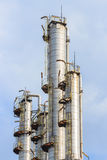 Oil refining tower, industrial Stock Photo