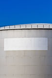 Oil reservoir on a petrochemical plant Royalty Free Stock Photos