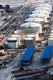 Oil reservoir in seaport Royalty Free Stock Photos