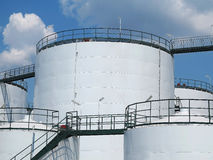 Oil reservoir and storage tank of mineral oil Stock Photo