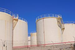 Oil reservoirs Stock Photography