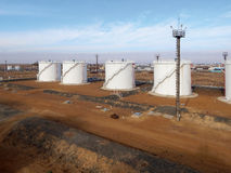 Oil reservoirs. Stock Photography