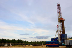 Oil Rig. Against blue sky Royalty Free Stock Image
