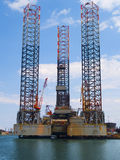 Oil Rig. Sea Oil Rig Drilling Platform Royalty Free Stock Images