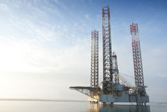 Oil rig. Of Shore Oil Rig Drilling Platform Stock Photo