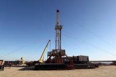 Oil rig. Onshore oil rig in the desert Stock Images