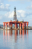 Oil rig. royalty free stock photos