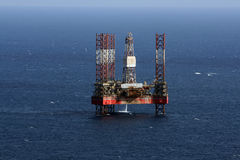 Oil rig. Oir rig out at sea in Malta Royalty Free Stock Photo