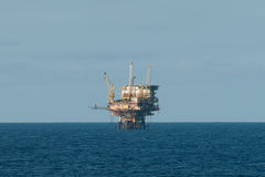 Oil rig. Offshore oil production rig.  Coast of Brazil Royalty Free Stock Photos