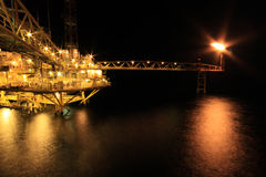 Oil and Rig Royalty Free Stock Photography